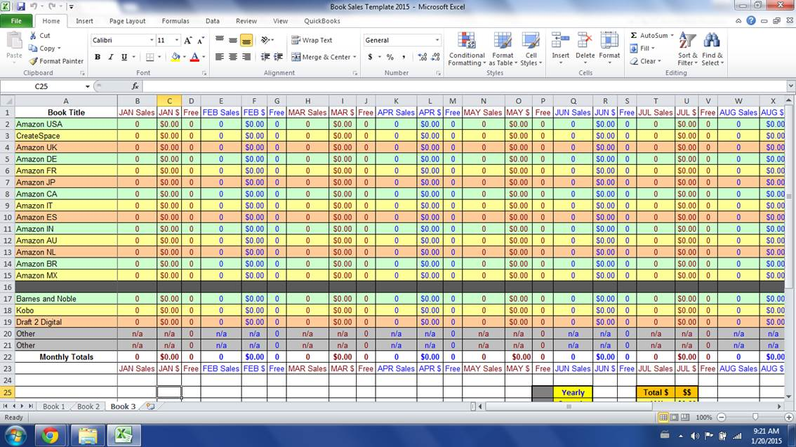 sales spread sheet - Ocife